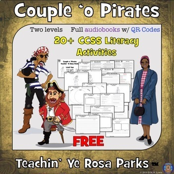 Spring Break Pirates Reading Comprehension Audiobook: Teach Rosa Parks Reading