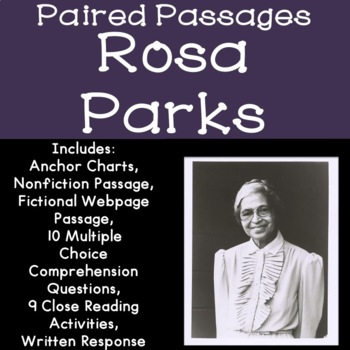 Rosa Parks Reading Comprehension Paired Passages