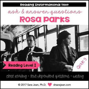 Rosa Parks • Reading Comprehension Passages and Questions • RL I