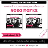 Rosa Parks • Reading Comprehension Passages and Questions • RL I & II