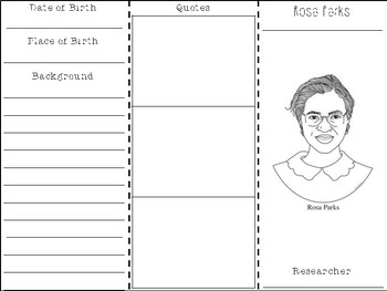 Rosa Parks Research Brochure