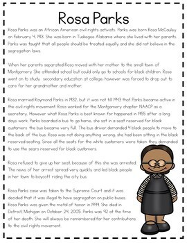 Rosa Parks Research Project