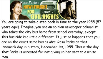 Rosa Parks Research template Google Presentation or PowerP