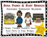 Rosa Parks & Ruby Bridges Foldable Emergent Readers ~Color & B&W~ 4 Books Total!