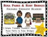 Rosa Parks & Ruby Bridges Foldable Emergent Readers ~Color & B&W~ 4 Books Total!