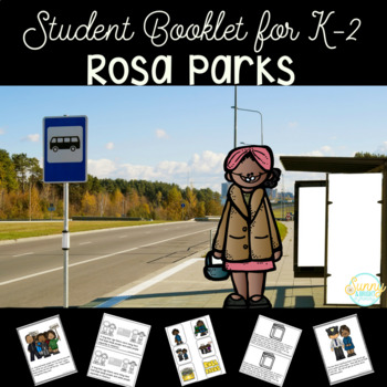 Rosa Parks Black History Month Student Booklet & Puppets