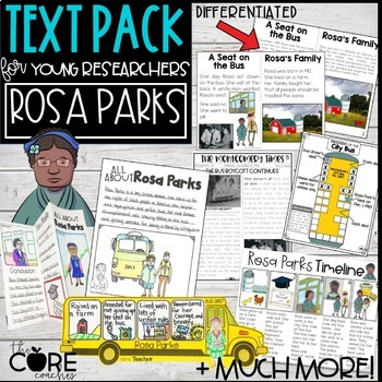 Rosa Parks Text Pack: Differentiated printable texts for classroom research