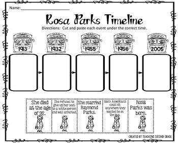 Rosa Parks by Teaching Second Grade | Teachers Pay Teachers