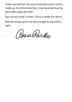 Rosa Parks Timeline and Quotes