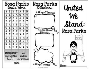 Rosa Parks Tri-fold