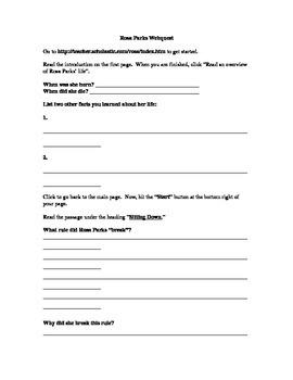Rosa Parks Webquest