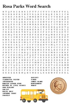 Rosa Parks Word Search