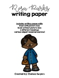 Rosa Parks Writing Sheets