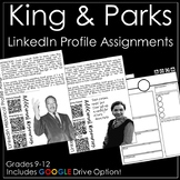 Rosa Parks and Martin Luther King LinkedIn Activities