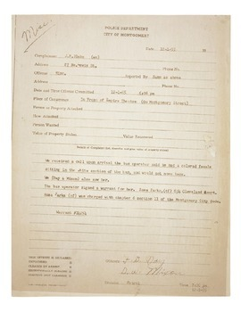 Rosa Parks arrest report and Merv Griffin interview