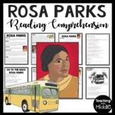 Rosa Parks Reading Comprehension worksheet; Civil Rights Movement; DBQ