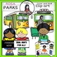 Rosa Parks clip art -Color and B&W- 25 items!