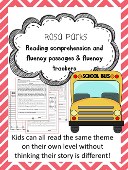Rosa Parks fluency and comprehension leveled passage