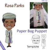 Rosa Parks paper bag puppet template