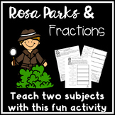 FREE Rosa Parks 5th Math Worksheets Division Mixed Number Fractions