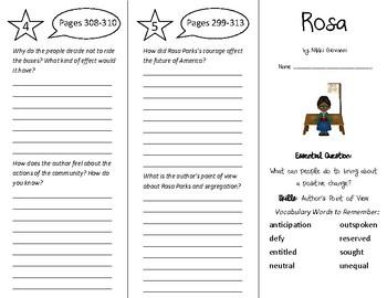 Rosa Trifold - Wonders 5th Grade Unit 4 Week 3