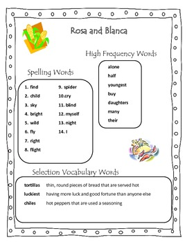 Rosa and Blanca Grade 2 Reading Street Common Core 2013