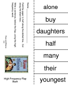 Rosa and Blanca, Reading Street, High Frequency Words