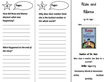 Rosa and Blanca Trifold - Reading Street 2nd Grade Unit 3 Week 4
