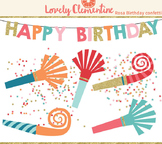 Rosa birthday clip art images, confetti clip art, party clip art