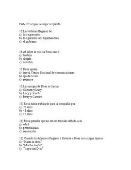 Rosa by Angel Balzarino  Quiz in Spanish