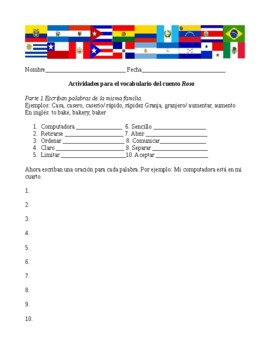 Rosa by Angel Balzarino vocabulary building activities