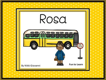 Rosa    by  Nikki Giovanni ~ 33 pgs of common core activities