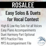 Rosalee - Easy Solos & Duets for Vocal Contest (High & Low
