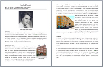 Rosalind Franklin - A Famous Scientist Reading