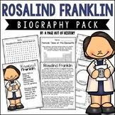 Rosalind Franklin Biography Pack (Women of Science)