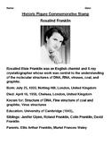 Rosalind Franklin Commemorative Postage Stamp Activity