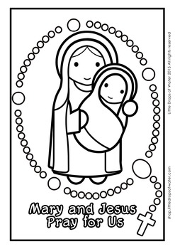 Rosary Coloring - Catholic