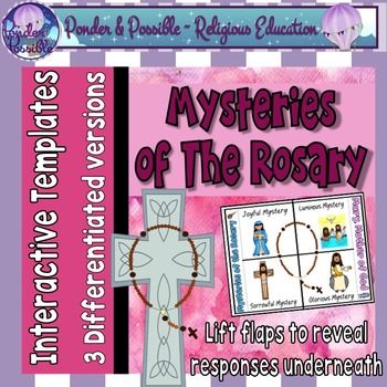 Mary & The Mysteries of The Rosary Interactive Worksheet