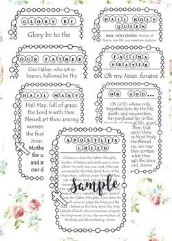 Rosary Prayers Bundle