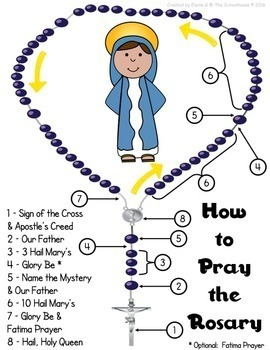 Rosary Worksheet and Activity Pack
