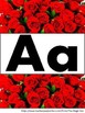 Rose Alphabet Banner
