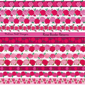Rose Border Patterns Clipart