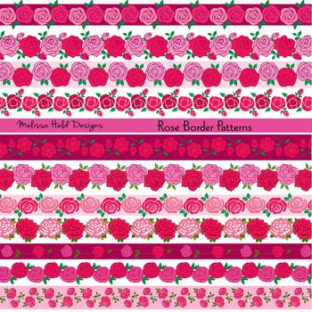 Clipart: Rose Border Patterns Clip Art