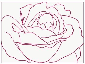 Rose Coloring Worksheets