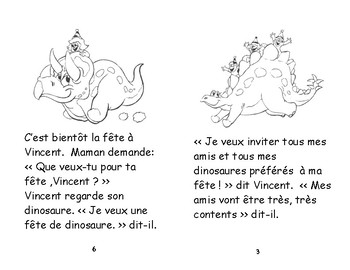 Rose- D18 - ENFANT 2e et 3e Une fête de dinosaure