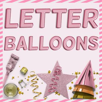 Rose Gold Balloon PNG Alphabet