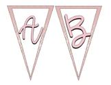 Rose Gold Bunting Banner (Full Alphabet)