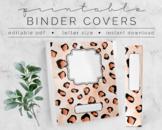 Rose Gold Cheetah BINDER COVER | Google Slides Template |