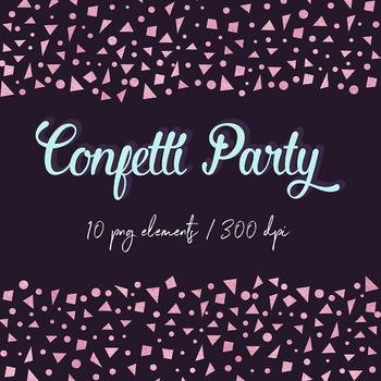 Rose Gold Confetti Clipart