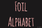 Rose Gold Foil Alphabet Clip Art Metallic Look 81 PNG Imag
